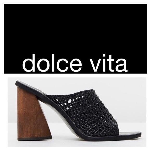 98770a816abb Dolce Vita Anton Mule Heel Black 9